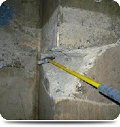 地下ピット コンクリート柱の欠損