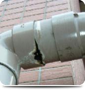 排水管継ぎ目の漏れ