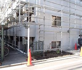 マンション大規模修繕工事_足場