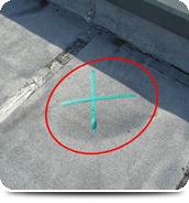 屋上 防水の膨れ