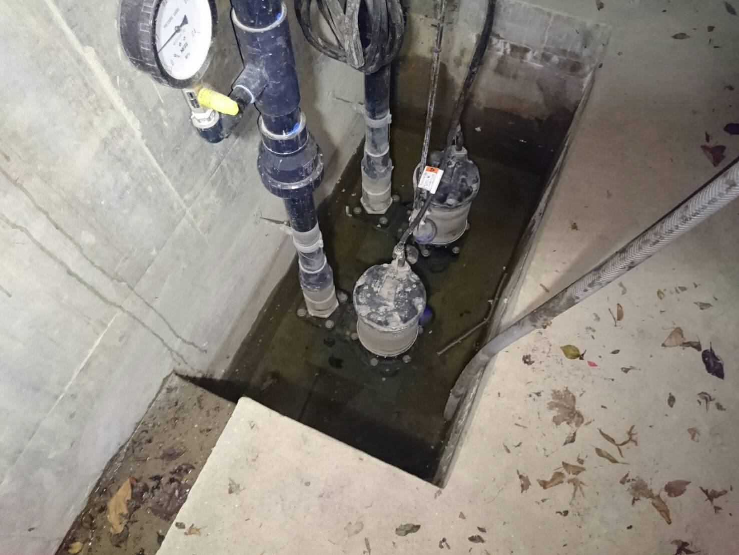排水ポンプ釜場