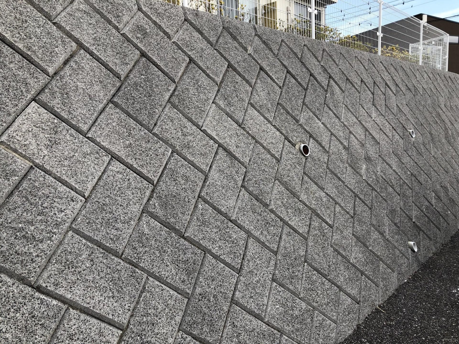 間知(ブロック)擁壁