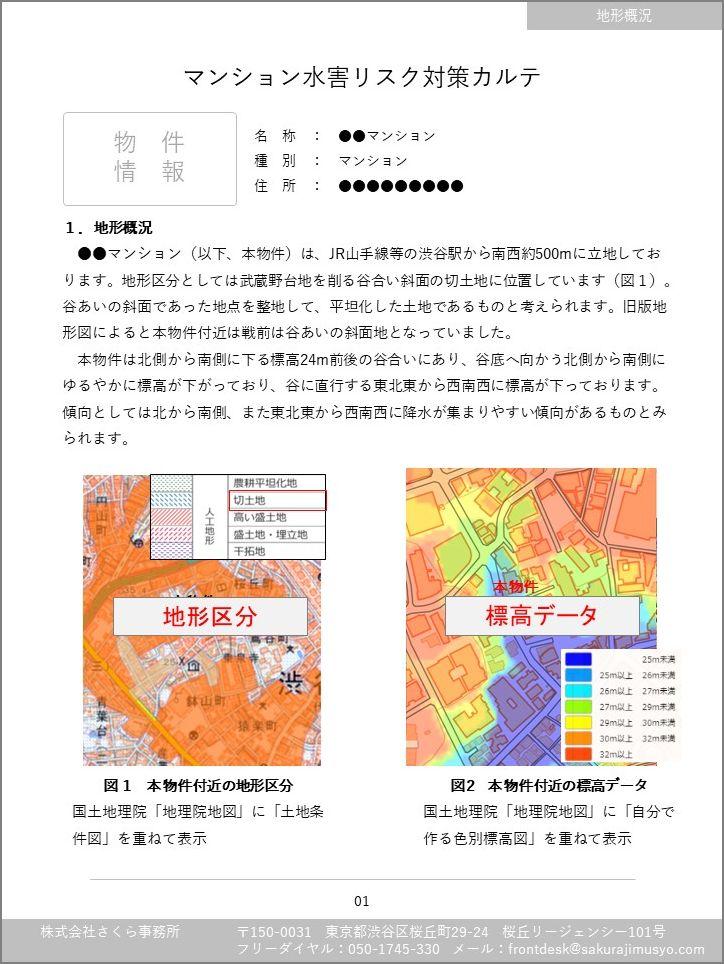 マンション水害リスクカルテ(サンプル表紙)