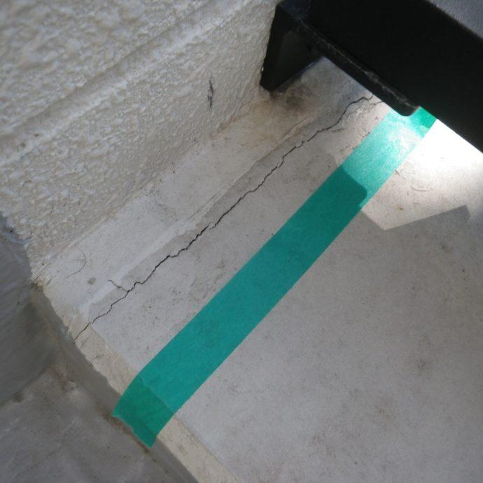 マンションのコンクリートのひび割れ、その原因と注意ポイント