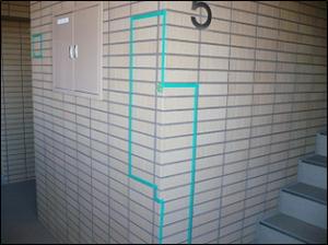 外壁タイル浮き事例