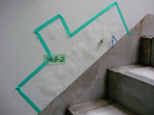 外壁塗装材の浮き